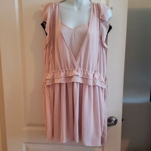 "Pink ""Forever 21"" Long Sheer Top"